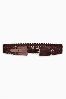 Berry Laser Cut Waist Belt