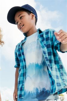 Short Sleeve Buffalo Check Shirt (3-16yrs)
