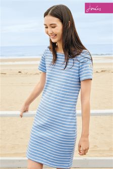 Joules Riviera Stripe Jersey T-Shirt Dress