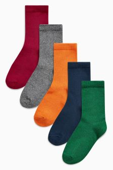 Plain Socks Five Pack (Older Boys)