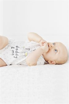 Daddy And Me Short Sleeve Bodysuit (0-18mths)