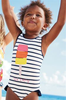 Ice Lolly Frill Leg Swimsuit (3mths-6yrs)