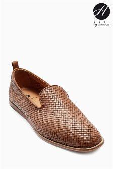 Tan Hudson Ipanema Woven Leather Slip-On Shoe