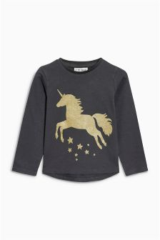Glitter Unicorn T-Shirt (3mths-6yrs)