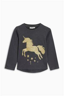 Glitter Unicorn T-Shirt (3mths-6yrs)