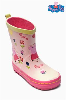 Ecru Peppa Pig™ Wellies (Younger Girls)