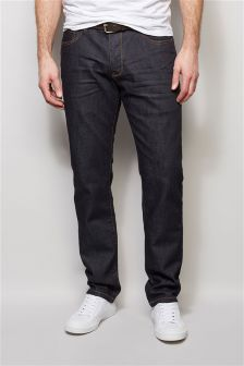 Dark Wash Smart Belted Jeans