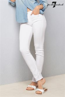 White 7 For All Mankind Rozie Slim Fit Jean