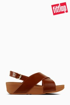 FitFlop™ Caramel Leather Lulu™ Cross Back Strap Sandal