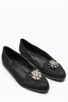 Jewel Lace Slippers