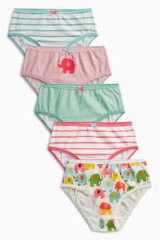 Elephant Briefs Five Pack (1.5-12yrs)