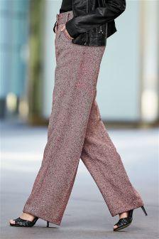 Herringbone Slouch Trousers
