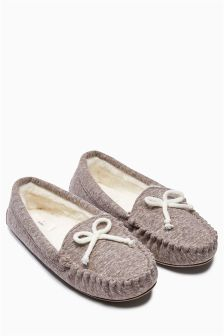 Jersey Moccasin Slippers