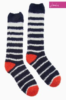 Joules French Navy Fab Fluffy Socks