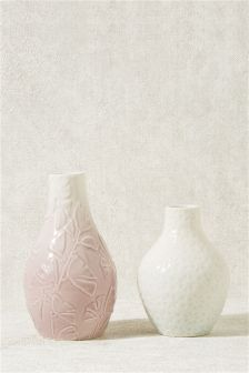 Set of 2 Ceramic Vases
