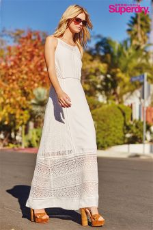 White Superdry Maxi Dress