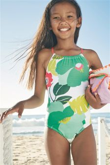Floral Print Swimsuit (3-16yrs)