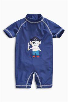 Navy Monkey Sunsafe Suit (3mths-6yrs)