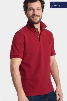 Joules Red Rhubarb Classic Fit Woody Polo