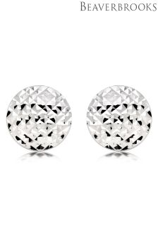 Beaverbrooks 9ct White Gold Circle Stud Earrings