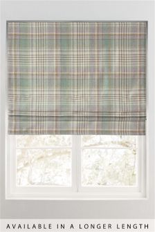 Padstow Woven Check Roman Blind