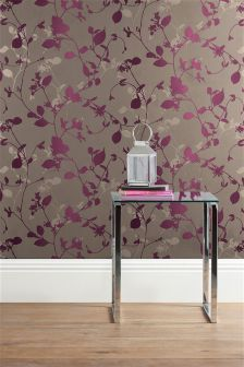 Leaf Silhouette Paste The Wall Wallpaper