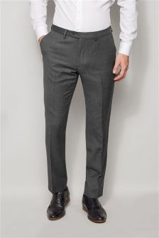 Grey Signature Textured Slim Fit Suit: Trousers