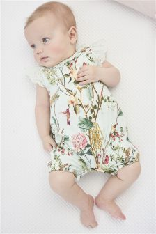 Print Rompers Two Pack (0mths-2yrs)