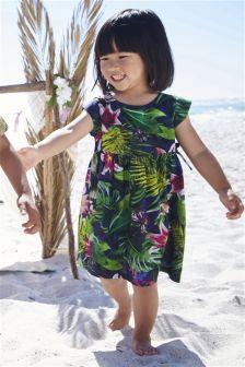 Tropical Print Dress (3mths-6yrs)