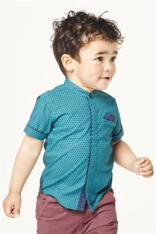 Short Sleeve Geo Print Shirt (3mths-6yrs)