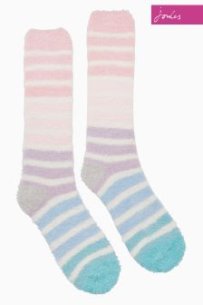 Joules Cream Fab Fluffy Socks