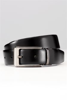 Textured Leather Reversible Belt