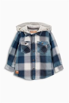 Check Hooded Shacket (3mths-6yrs)
