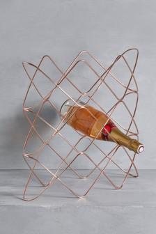 Rose Gold Effect Wine Rack
