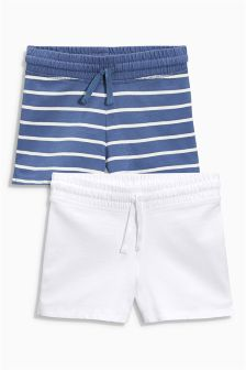 Blue/White Shorts Two Pack (3-16yrs)