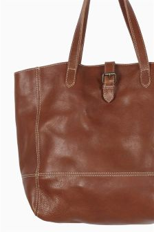 Fat Face Chestnut Lily Large Shaped Buckle Tote Bag