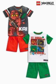 Multi Lego™ Ninjago Pyjamas Two Pack (4-10mths)