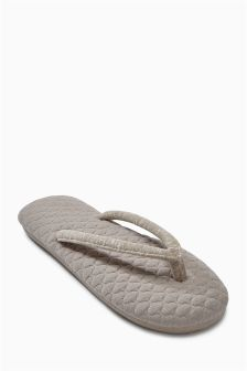 Mink Textured Toe Thongs