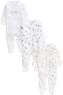 Noah's Ark Sleepsuits Three Pack (0-12mths)