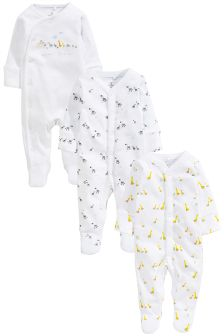 Noah's Ark Sleepsuits Three Pack (0-12mths)