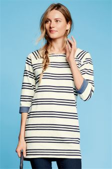 Navy/White Slub Stripe Tunic