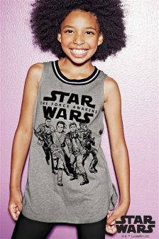 Dark Grey Star Wars™ Longline Vest (3-16yrs)