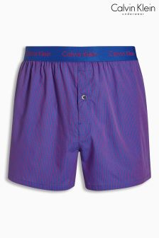 Calvin Klein Blue Stripe Woven Boxer