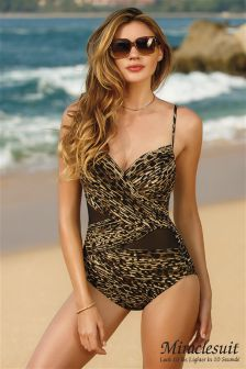 Miraclesuit Leopard Mystify Purr Fection Mesh Swimsuit