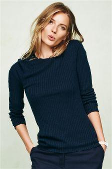 Rib Crew Sweater