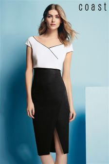 Coast Black/White Esmae Shift Dress