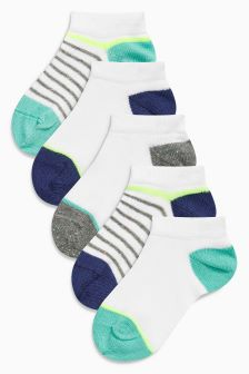 Trainer Liner Socks Five Pack (Younger Boys)