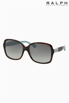 Ralph By Ralph Lauren Tortoise/Turquoise Square Sunglasses