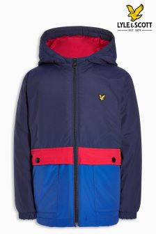 Lyle & Scott Navy Colourblock Jacket