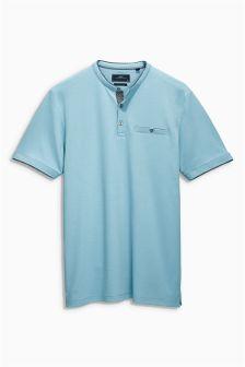 Signature Button Neck T-Shirt